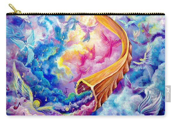 Carry-all Pouch featuring the painting The Shofar by Nancy Cupp