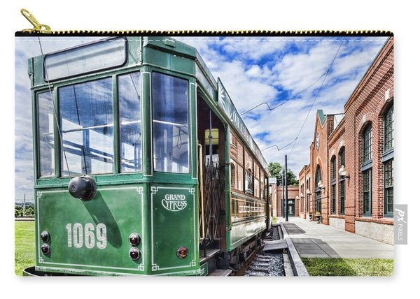The Stib 1069 Streetcar At The National Capital Trolley Museum I Carry-all Pouch