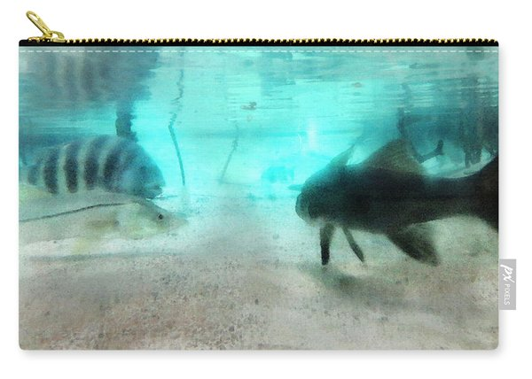 The Storyteller - A Fish Tale By Sharon Cummings Carry-all Pouch