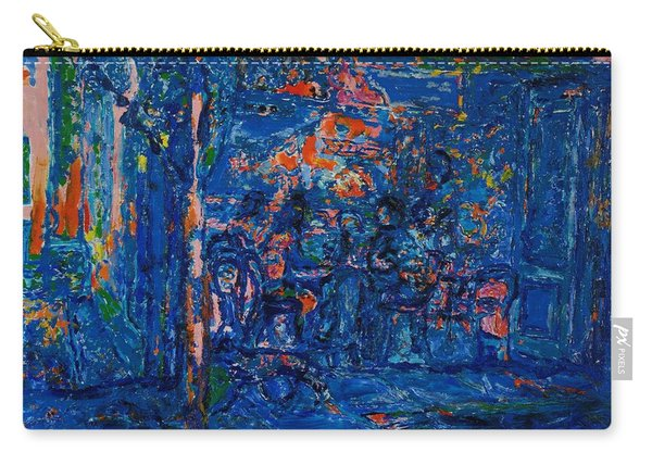 The Street Cafe Oil On Canvas Carry-all Pouch