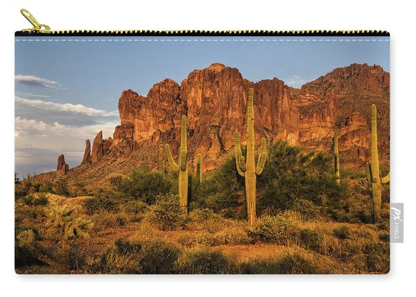The Superstitions At Sunset  Carry-all Pouch