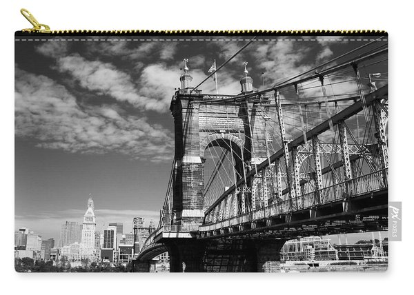 The Suspension Bridge Bw Carry-all Pouch