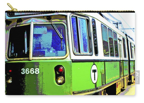 The T Trolley Car Boston Massachusetts 1990 Poster Carry-all Pouch