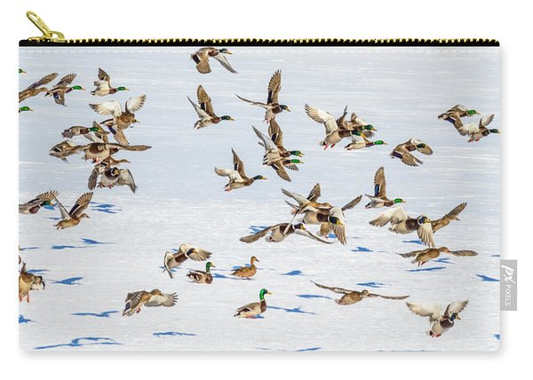 Carry-all Pouch featuring the photograph The Takeoff by Garvin Hunter