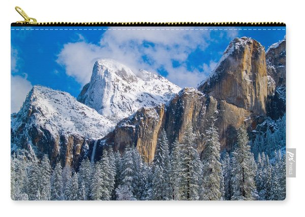 Cathederal Rocks And Bridalveil Carry-all Pouch