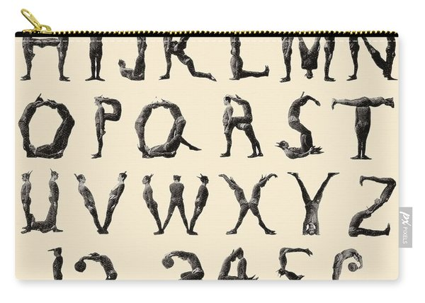 The Three Delevines Satanic Gambols Human Alphabet. The Three Delevines Were An 1897 Music Hall Carry-all Pouch