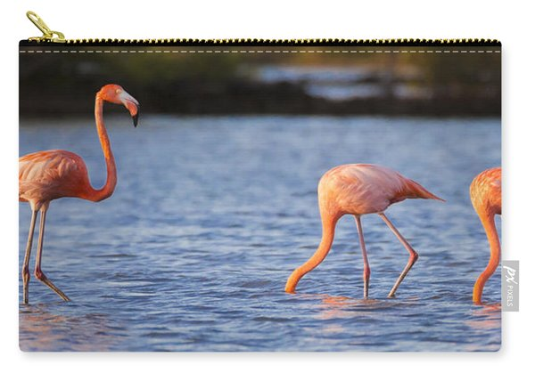 The Three Flamingos Carry-all Pouch