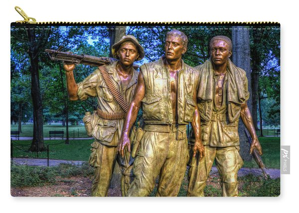 The Three Soldiers Facing The Wall Carry-all Pouch