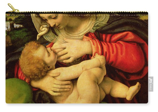 The Virgin Of The Green Cushion Carry-all Pouch