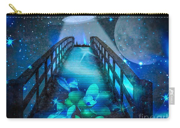 Carry-all Pouch featuring the digital art The Visit by Eleni Mac Synodinos