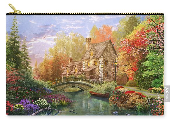 The Water Lake Cottage Carry-all Pouch