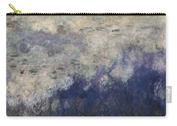 The Waterlilies - The Clouds Central Section 1915-26 Oil On Canvas See Also 64184 & 64186 Carry-all Pouch