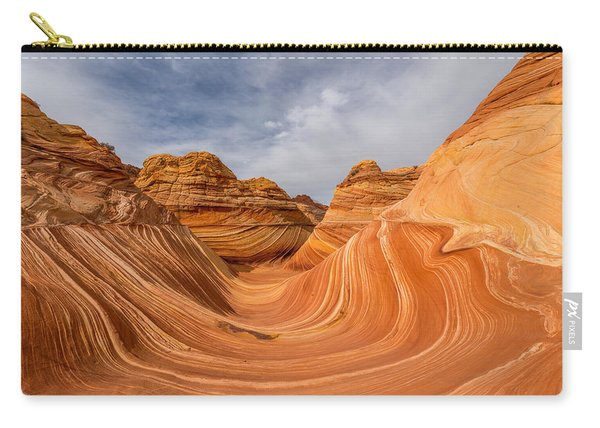 Carry-all Pouch featuring the photograph The Wave by Dustin  LeFevre