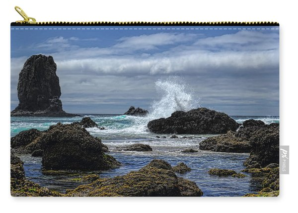The Waves At Haystack Rock Carry-all Pouch