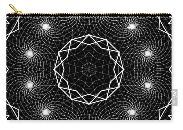 Carry-all Pouch featuring the digital art The Web Of Life by Derek Gedney
