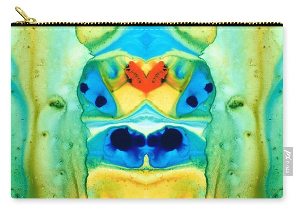 The Wedding - Abstract Art By Sharon Cummings Carry-all Pouch