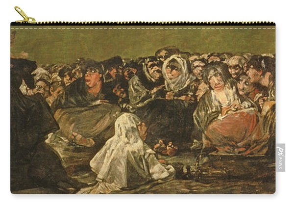 The Witches Sabbath Or The Great He-goat, One Of The Black Paintings, C.1821-23 Oil On Canvas Carry-all Pouch