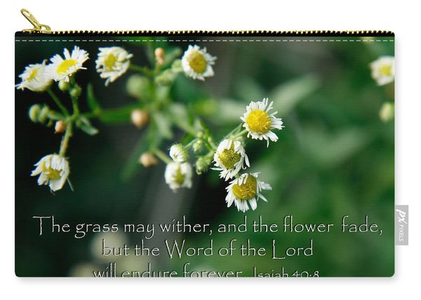 The Word Of The Lord Will Endure Carry-all Pouch