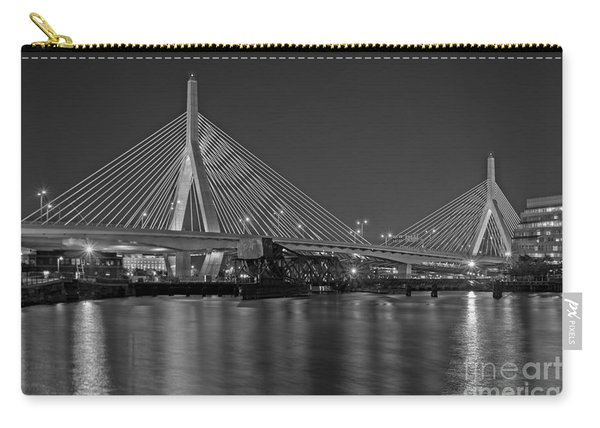 The Zakim Bridge Bw Carry-all Pouch