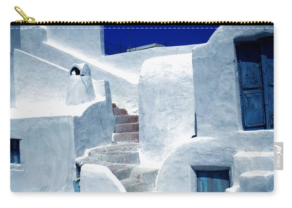Carry-all Pouch featuring the photograph Thirasia Island Ancient House Near Santorini Greece by Colette V Hera  Guggenheim