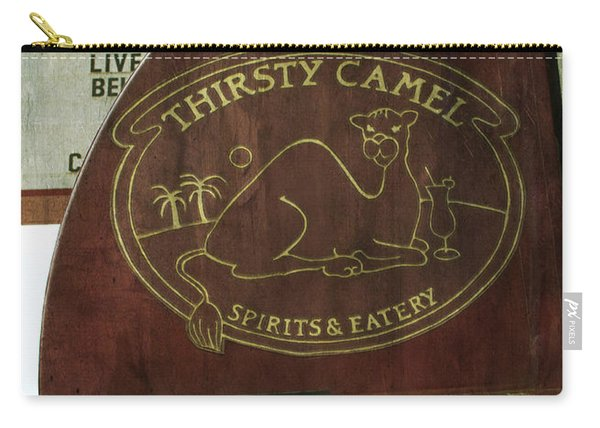 Carry-all Pouch featuring the photograph Thirsty Camel by Michael Colgate