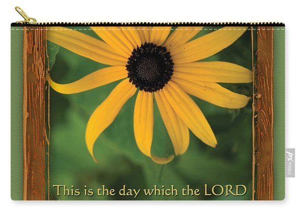 This Is The Day Sunflowers Carry-all Pouch