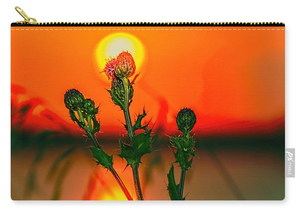 Thistle At Sunset Carry-all Pouch