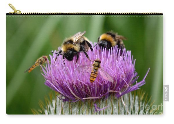 Carry-all Pouch featuring the photograph Thistle Wars by Scott Lyons