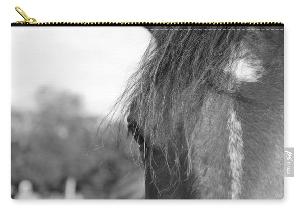 Thoroughbred B/w Carry-all Pouch