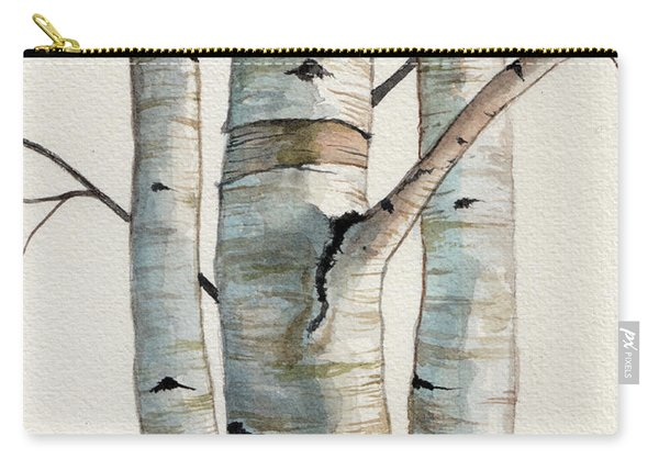 Three Birch Trees Carry-all Pouch