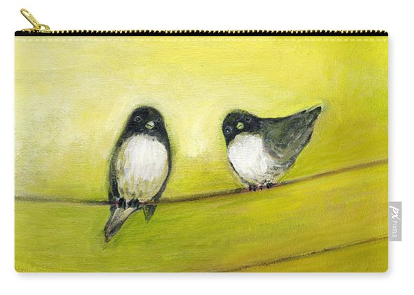 Three Birds On A Wire No 2 Carry-all Pouch