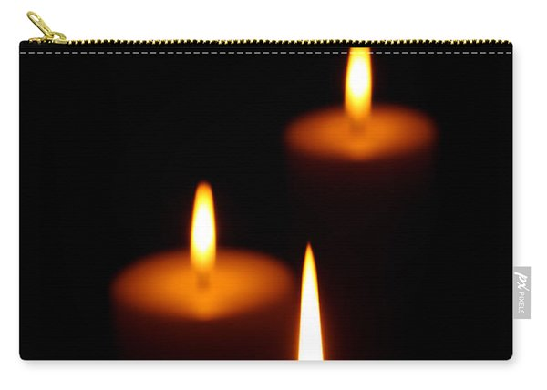 Three Burning Candles Carry-all Pouch