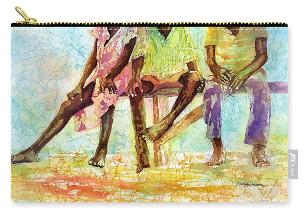 Three Children Of Ghana Carry-all Pouch