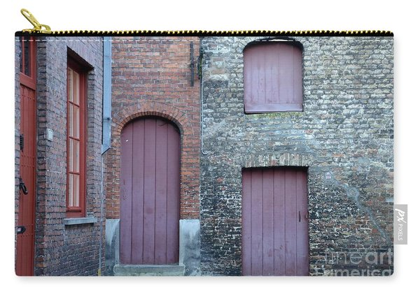 Three Doors And Two Windows Bruges, Belgium Carry-all Pouch