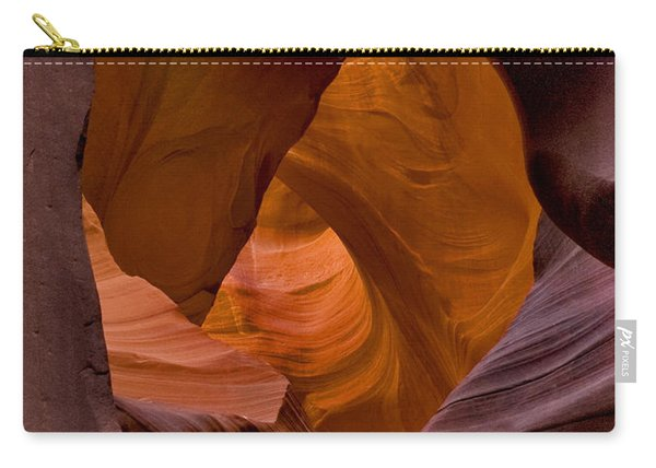 Carry-all Pouch featuring the photograph Three Faces In Sandstone by Mae Wertz