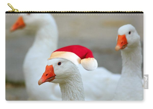 Three Geese At Christmas Carry-all Pouch