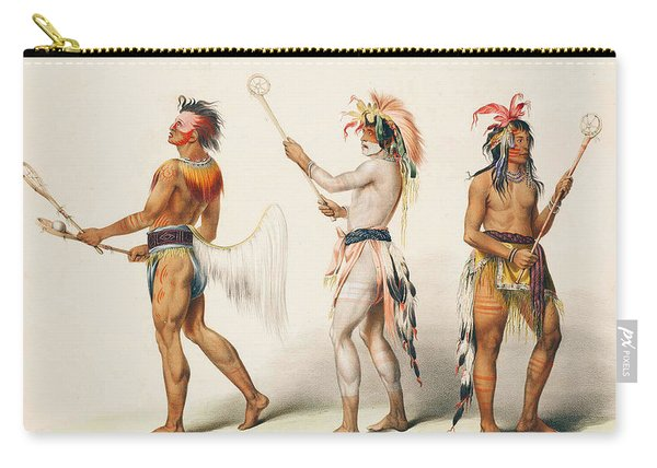 Three Indians Playing Lacrosse Carry-all Pouch