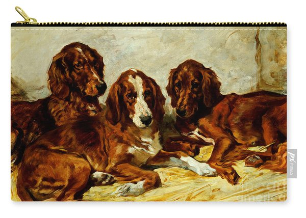 Three Irish Red Setters Carry-all Pouch