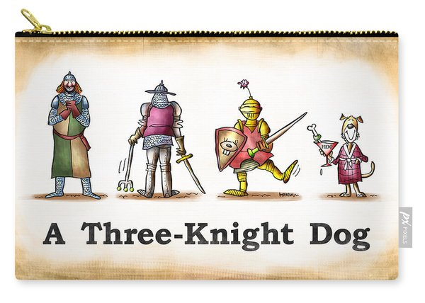 Three Knight Dog Carry-all Pouch