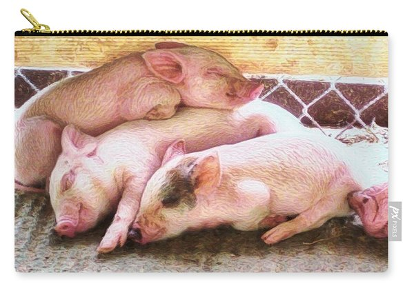 H Three Little Piglets - Horizontal Carry-all Pouch
