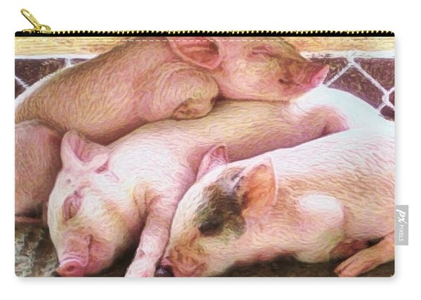 S Three Little Piglets - Square Carry-all Pouch