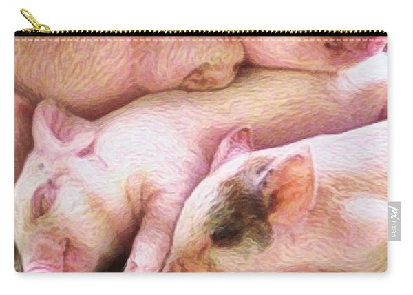 V Three Little Piglets - Vertical Carry-all Pouch