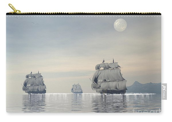 Three Old Ships Sailing In The Ocean Carry-all Pouch
