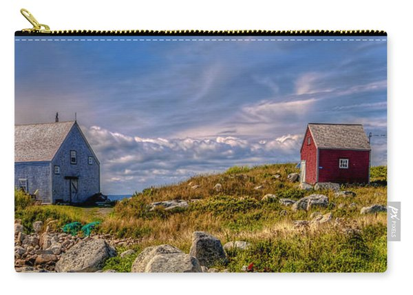 Three Shacks By The Sea Carry-all Pouch