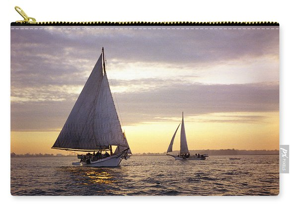 Three Skipjacks Dredging Oysters At Dawn Carry-all Pouch