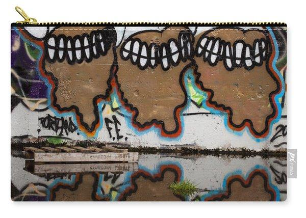 Three Skulls Graffiti Carry-all Pouch
