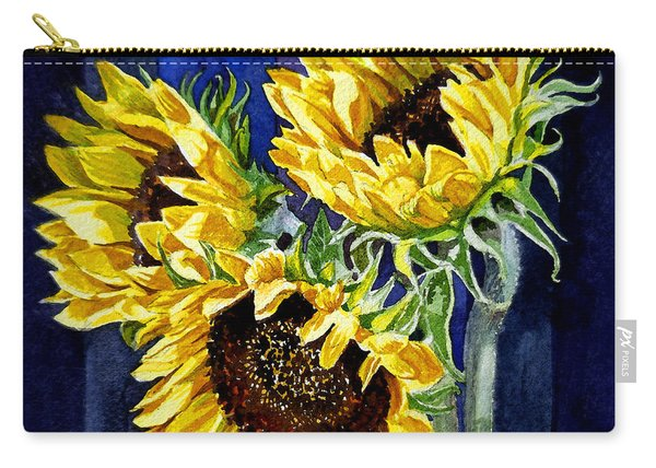 Three Sunny Flowers Carry-all Pouch
