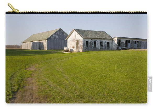 Three Weathered Farm Buildings Carry-all Pouch