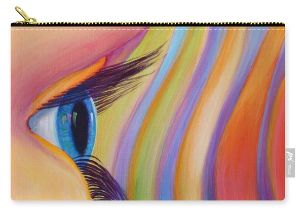 Carry-all Pouch featuring the painting Through The Eyes Of A Child by Sandi Whetzel