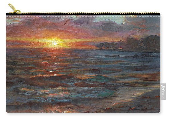 Through The Vog - Hawaii Beach Sunset Carry-all Pouch